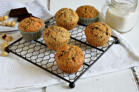 Muffin nocciola e cioccolato