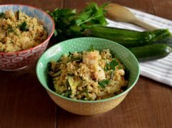 Cous cous gamberi e zucchine