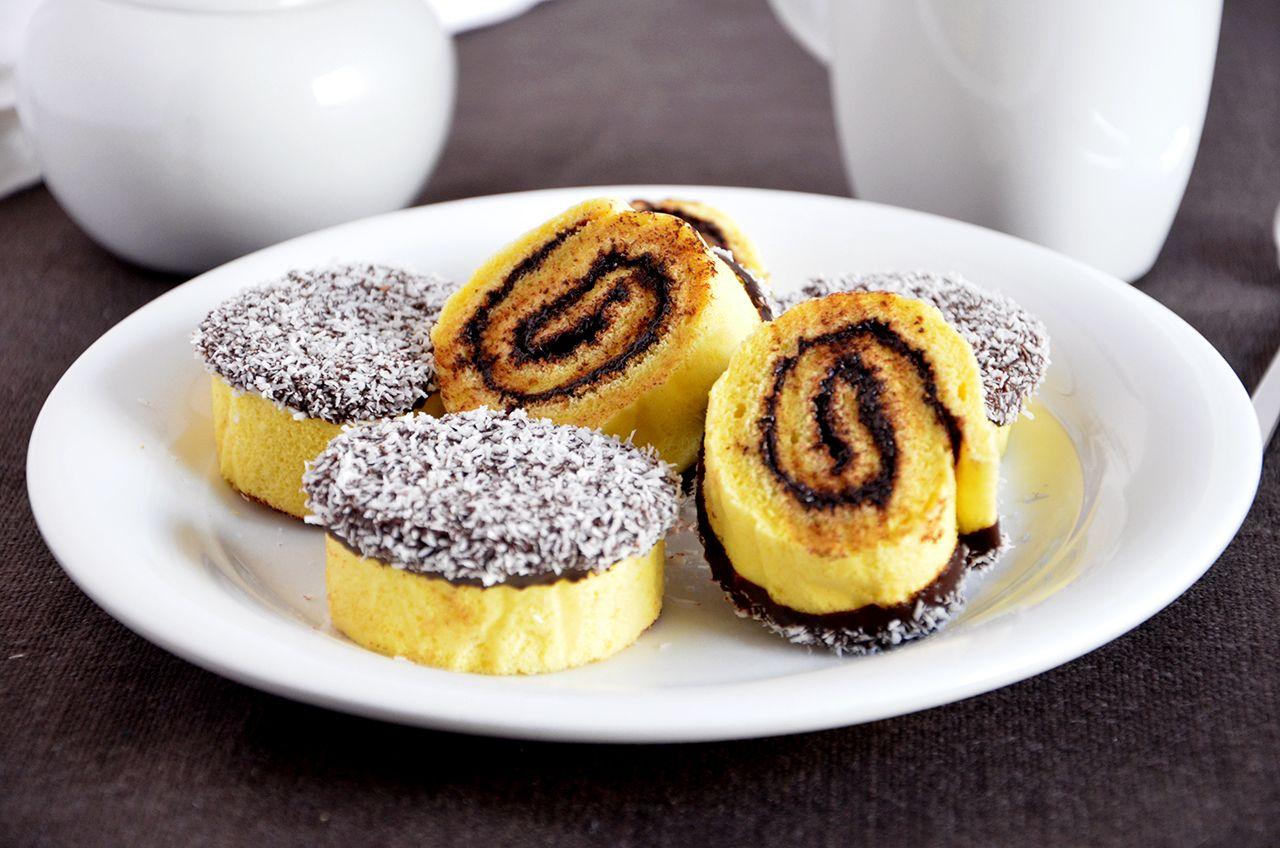 Girelle cioccolato e cocco
