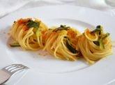 Pasta bottarga e zucchine