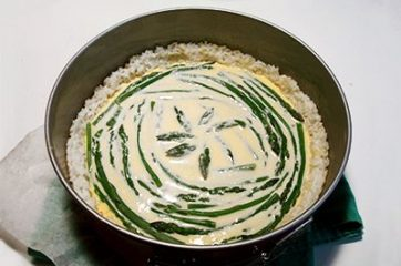 Quiche di asparagi in crosta di riso 8
