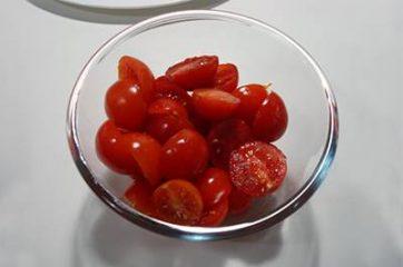 Pasta con ricciola zucchine e pomodorini 1