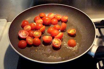 Pasta con ricciola zucchine e pomodorini 4