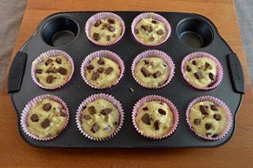 Muffin con cioccolato al latte 4