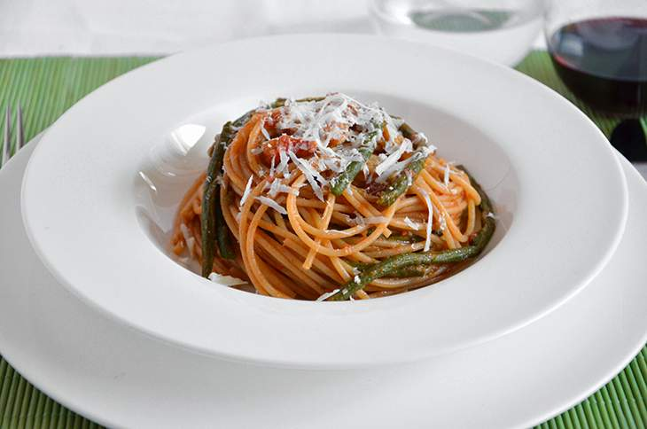 Spaghetti con i fagiolini