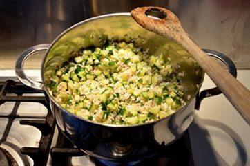Risotto con le zucchine 6