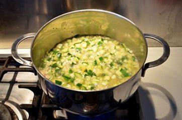 Risotto con le zucchine 7