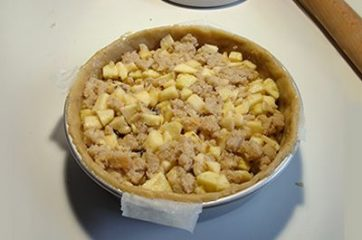Torta di mele e pane 10