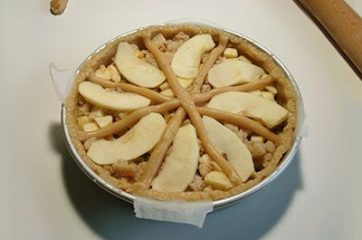 Torta di mele e pane 12