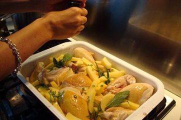 Pollo al forno con patate 6