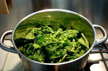 Risotto con spinaci e pancetta 1