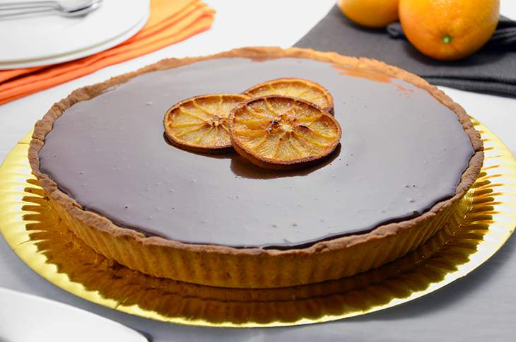 Crostata di cioccolato e arance
