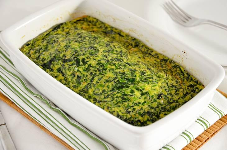Frittata di spinaci al forno