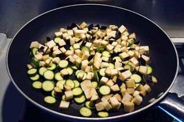 Insalata di farro con melanzane e zucchine 2
