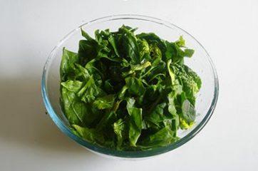 Pasta con pesto di spinaci 1