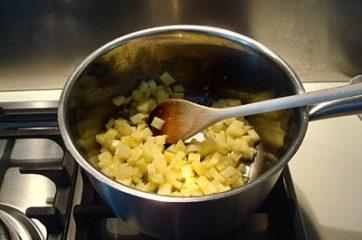 Risotto con verza e patate 4