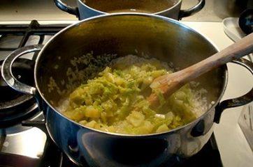 Risotto con verza e patate 9