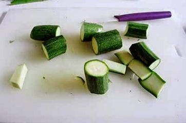 Pasta con zucchine e asparagi 3