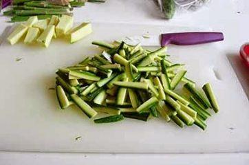 Pasta con zucchine e asparagi 4