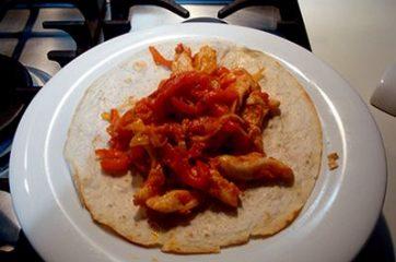 Fajitas di pollo e peperoni 8