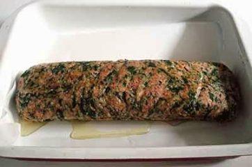 Polpettone con spinaci 12