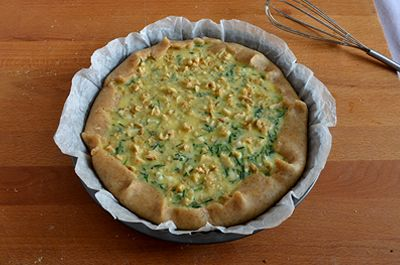 Torta salata agretti e gorgonzola 12