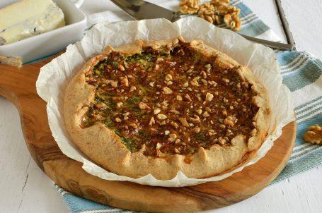 Torta salata agretti e gorgonzola