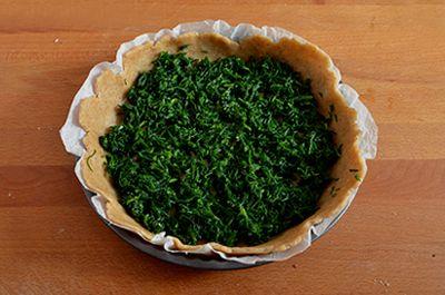 Torta salata agretti e gorgonzola 9