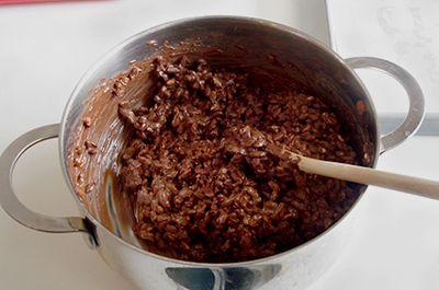 Barrette al riso soffiato e cioccolato 4