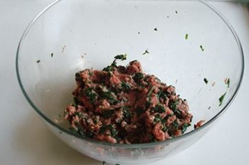 Hamburger con spinaci 4