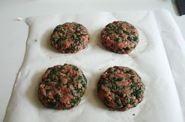 Hamburger con spinaci 5
