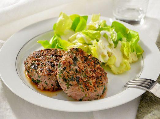 Hamburger con spinaci
