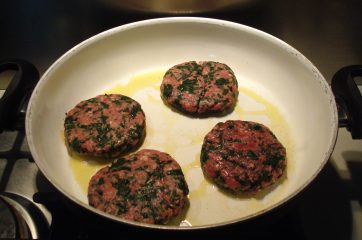 Hamburger con spinaci 6
