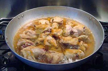 Pollo con funghi e pancetta 7