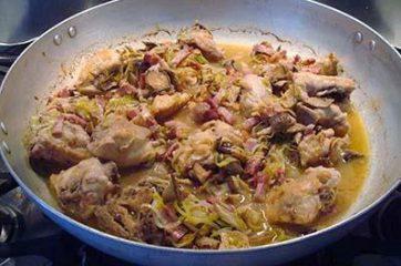 Pollo con funghi e pancetta 8