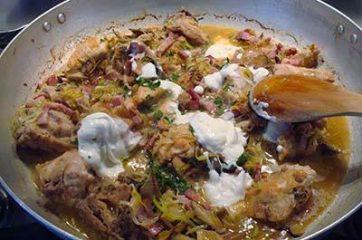 Pollo con funghi e pancetta 9