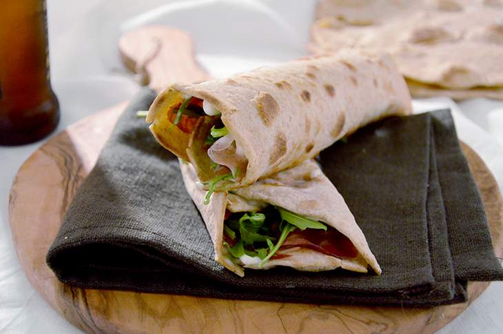 Piadina integrale all'olio