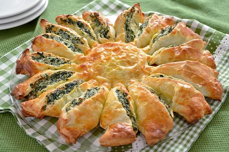 Torta fiore di ricotta e spinaci