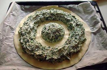 Torta fiore di ricotta e spinaci 5