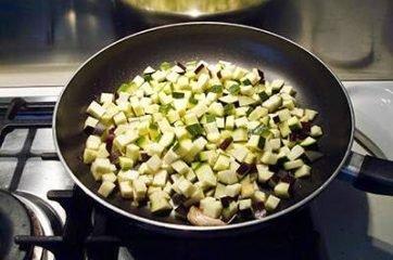 cous cous con melanzane e zucchine 4