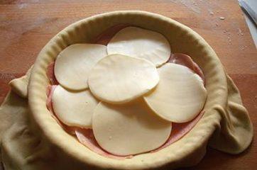 Focaccia funghi prosciutto e formaggio 11