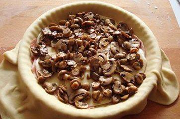 Focaccia funghi prosciutto e formaggio 12