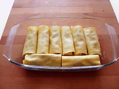 Procedimento Cannelloni con ricotta e radicchio - Passaggio 15
