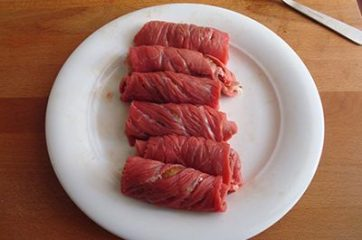 Involtini di carne con frutta secca 5