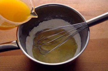 Crema all'arancia senza uova e senza latte 4