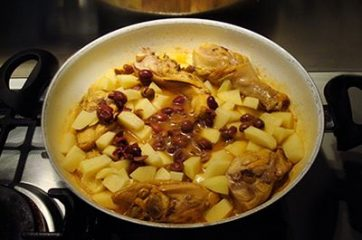 Pollo con patate e olive 6