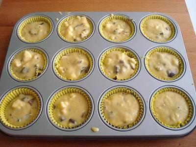 Muffin banana e cioccolato 5