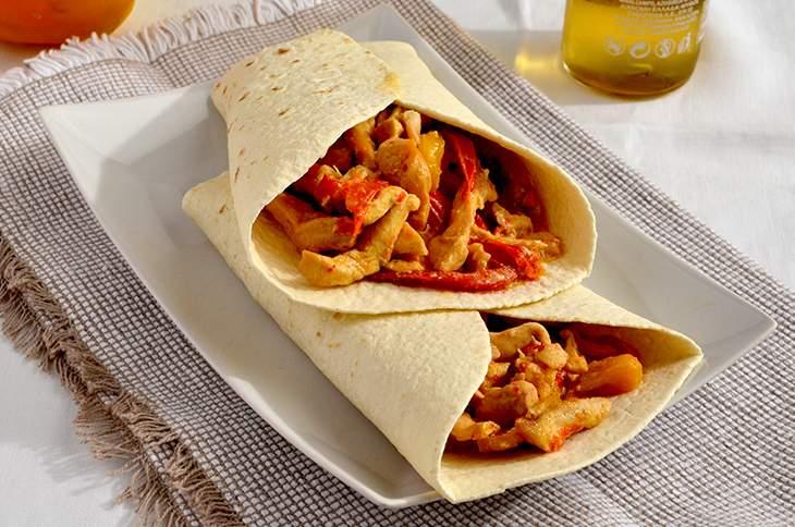 Fajita di pollo e peperoni semplice