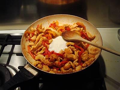 Fajita di pollo e peperoni semplice 6