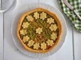 Torta salata con pisellini e prosciutto